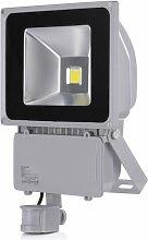 10W 20W 30W 50W 100W LED Flutlicht Fluter Außenleuchte Wandstrahler flutlichtstrahler mit bewegungsmelder AC85-265V IP65, Kaltweiss (100W)