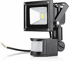 10W 20W 30W 50W 100W LED Flutlicht Fluter Außenleuchte Wandstrahler flutlichtstrahler mit bewegungsmelder AC85-265V IP65, Warmweiss (10W)