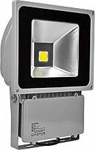 10W 20W 30W 50W 70W 100W 150W 200W 300W LED Lampe Scheinwerfer Fluter Licht Kaltweiß in silber grau Flutlicht Innen-Außenstrahler Strahler IP65 wasserdicht Flutbeleuchtung (100 Watt)