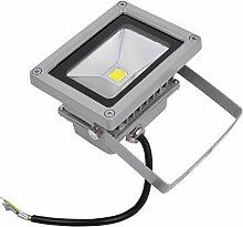 10W 20W 30W 50W 70W 100W 150W 200W 300W LED Lampe Scheinwerfer Fluter Licht Kaltweiß in silber grau Flutlicht Innen-Außenstrahler Strahler IP65 wasserdicht Flutbeleuchtung (10 Watt)