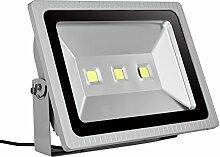 10W 20W 30W 50W 70W 100W 150W 200W 300W LED Lampe Scheinwerfer Fluter Licht Kaltweiß in silber grau Flutlicht Innen-Außenstrahler Strahler IP65 wasserdicht Flutbeleuchtung (300 Watt)