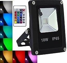 10W LED Strahler RGB Farbwechsel mit Fernbedienung