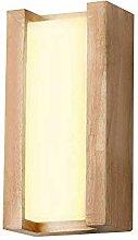 10W LED Wandleuchte Holz und Acryl Lampenschirm
