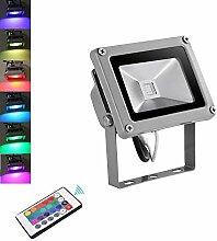 10W RGB LED Strahler, Papasbox Farbig Fluter