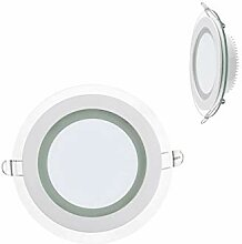 10x 12W LED Panel Glas Abdeckung Einbaustrahler