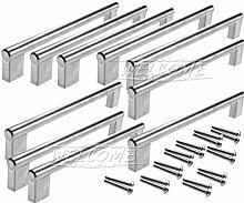 10x 192mm Möbelgriff Griff für Schranktür,Schublade, Küchentür, Metall