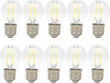 10x 2W E27 LED Glühbirne Tropfen Filament