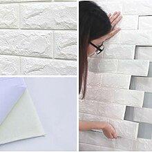 10x 3D Ziegelstein Tapete 77x70cm Brick Pattern
