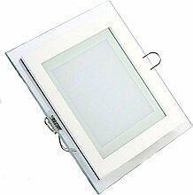 10x 6W LED Panel Glas Abdeckung Einbaustrahler