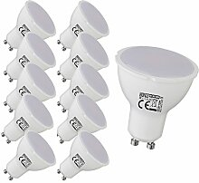 10x 8 watt GU10 Einbauspot Lampe Einbaustrahler