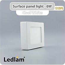 10x Aktionspack Set LED Deckenleuchte weiß 6 Watt