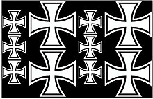10x Aufkleber Eisernes Kreuz im Set Bogen26x17cm