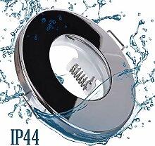 10x Bad Einbaustrahler in chrom mit GU10 Fassung