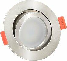 10x dimmbare, flache (25mm) LED Einbau-Strahler |
