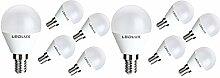 10x E14, LED E14, LED lampe E14, 7W Kaltweiss, 710