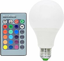 10X E27 LED 7W RGB Birne Lampe Multicolor 16