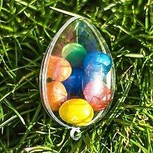 10x Egg geformt befüllbar Behälter (60mm) Gastgeschenke Ostern Dekoration Weihnachten