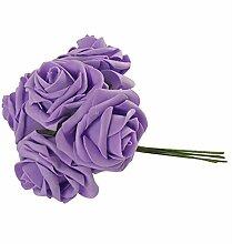 10x Farbecht Schaum Rosen Blumen Künstliche Blume