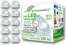 10x greenandco® CRI 90+ LED Spot ersetzt 20 Watt