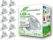 10x greenandco® LED Spot ersetzt 30 Watt GU10