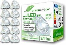10x greenandco® LED Spot ersetzt 33 Watt MR16