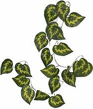 10x Künstliche Blätter Hängen Pflanze Efeurebe Zaun Fenster Wanddekor - Stil 03, 2.4m