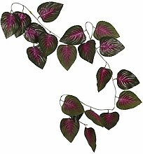 10x Künstliche Blätter Hängen Pflanze Efeurebe Zaun Fenster Wanddekor - Basilikumblätter , 2.4m