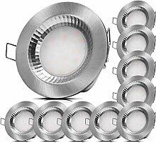 10x LED Badeinbauleuchten 230V 5W IP54 LED