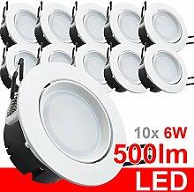 10x LED Einbaustrahler 230V Einbauleuchte