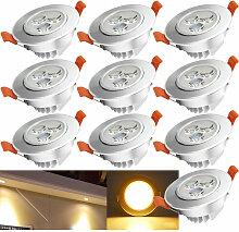 10x LED Einbaustrahler Deckenleuchte Einbauleuchte