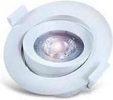 10x LED Einbaustrahler Schwenkbar 5W LED Warmweiß