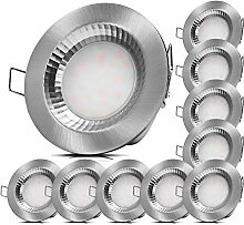 10x LED Feuchtraum Einbauleuchten 230V 5W IP54 LED