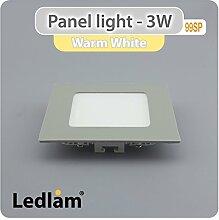 10x LED Panel Aktionspack 3 Watt quadratisch
