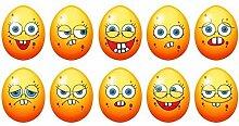 10x Oster Eier Set lustige Gesichter smile smiles