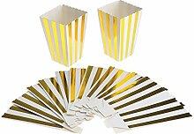 10x Popcorn Popcorntüten Popcornbecher Papier