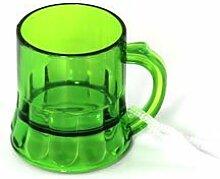 10x Schnapsglas am Band in grün, Henkelstamper,