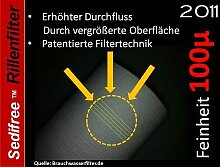 10x Sedifree Rillen Filter 100µ (mikron) Trinkwasser Zisterne Regenwasser Osmose Umkehrosmose Filteranlage SEDIMENTFILTER UMKEHROSMOSE WASSERFILTER BRUNNEN