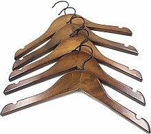 10X Toruiwa Kleiderbügel Vintage Holz Anzugbügel
