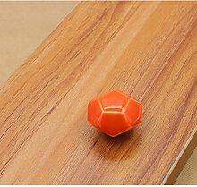 10x Türknöpfe Keramik Möbelknopf Möbelgriff Schrankgriffe Möbelgriffe (orange)