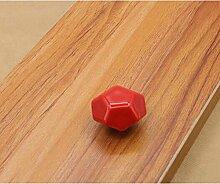 10x Türknöpfe Keramik Möbelknopf Möbelgriff Schrankgriffe Möbelgriffe (rote)