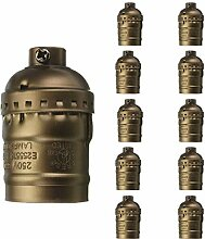 10x Vintage Edison Stehlampe Fassung, MOTENT Retro
