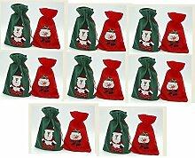 10x Weihnachts Geschenkbeutel aus Filz 18 x 28 cm