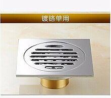 10x10cm Messing antikes Brushed Boden Badezimmer Küche Dusche Roon Veranda Boden leere Sanitär, Chrom Single