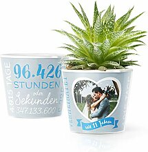 11. Hochzeitstag Geschenk – Blumentopf (ø16cm)