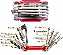 11 in 1 Mini Bike Notfall Repair Tool Kit Set Hex