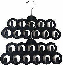 11 Löcher samt Schal Kleiderbügel 2 Pack von Mangotree (Gray)