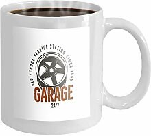 11 oz Coffee Mug garage old school service station
