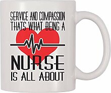 11 oz Coffee Mug, Service And Compassion That What