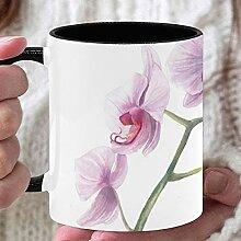 11 Unzen Kaffeebecher Becher Blumen Rosa Orchidee