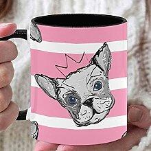 11 Unzen personalisierte Kaffeetasse Hundeköpfe